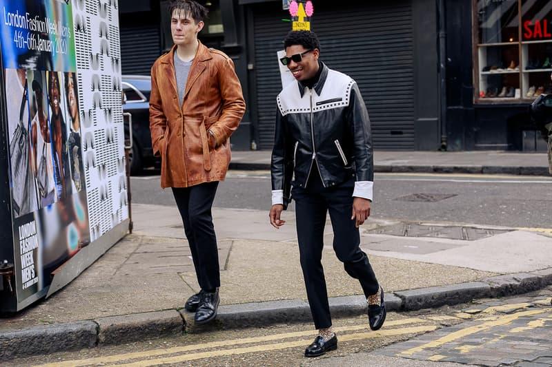 London Fashion Week Men's Fall/Winter 2020 Street Style Outerwear