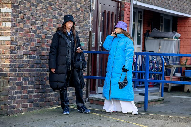 London Fashion Week Men's Fall/Winter 2020 Street Style Puffer Coats