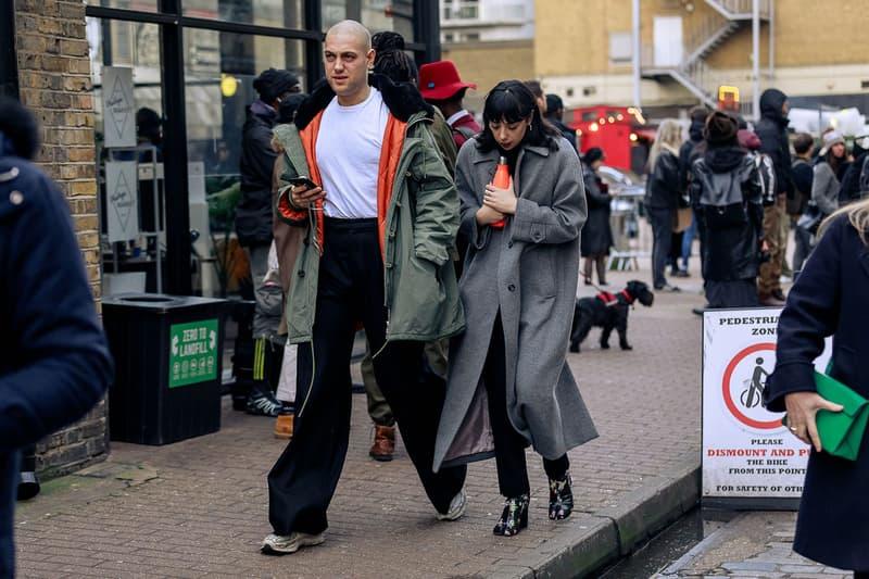 London Fashion Week Men's Fall/Winter 2020 Street Style Margiela Tabi