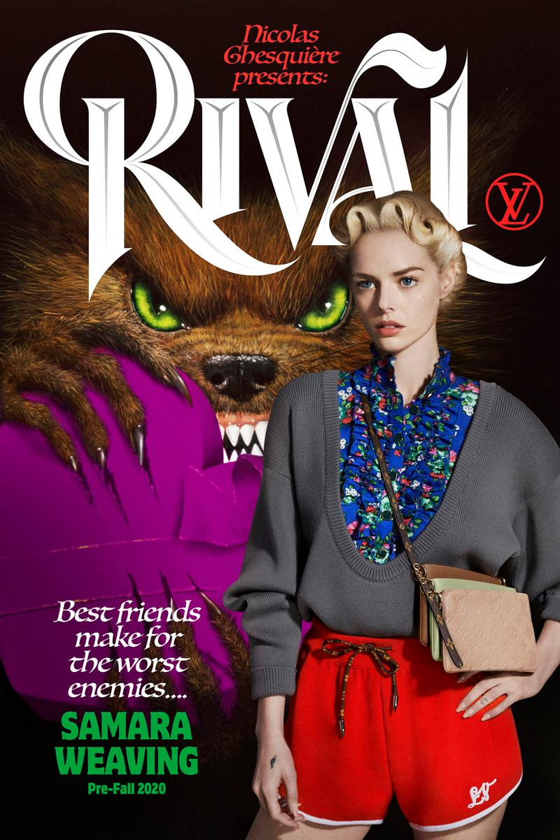 louis vuitton pre-fall collection lookbook retro posters nicolas ghesquiere sophie turner jaden smith emma roberts