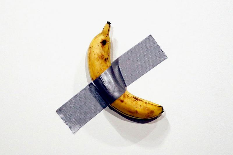 Maurizio Cattelan Banana Duct Tape Art Basel Miami 2019 'Comedian'
