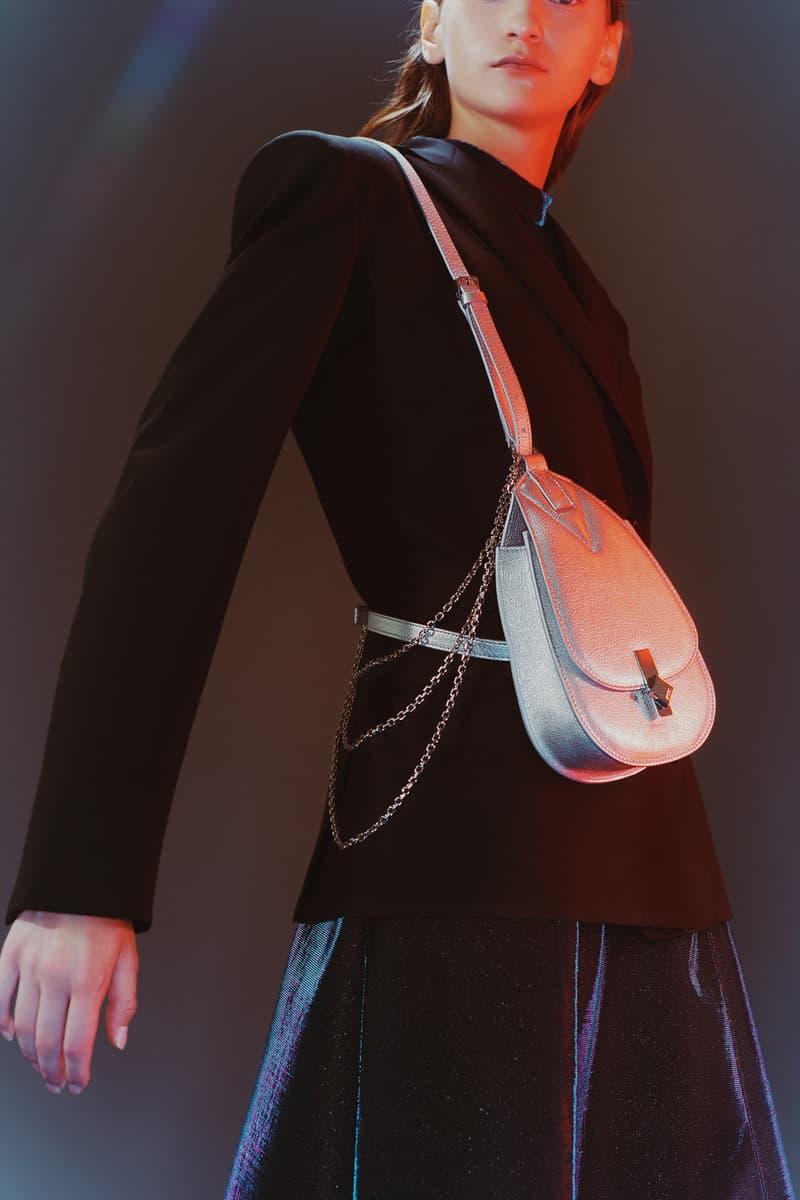 MCM Spring/Summer 2020 Collection Lookbook Blazer Black Crossbody Bag Silver