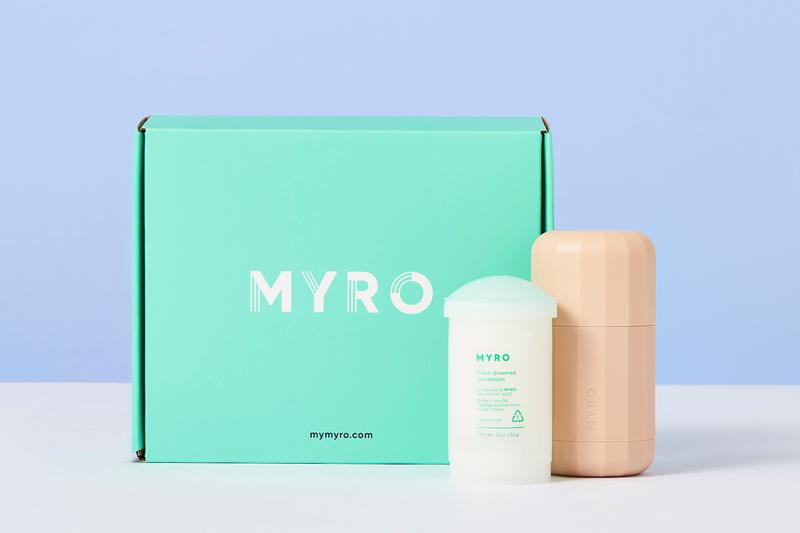 Myro Plant-Based Sustainable Vegan Deodorant Aesthetic Beauty Skincare Range