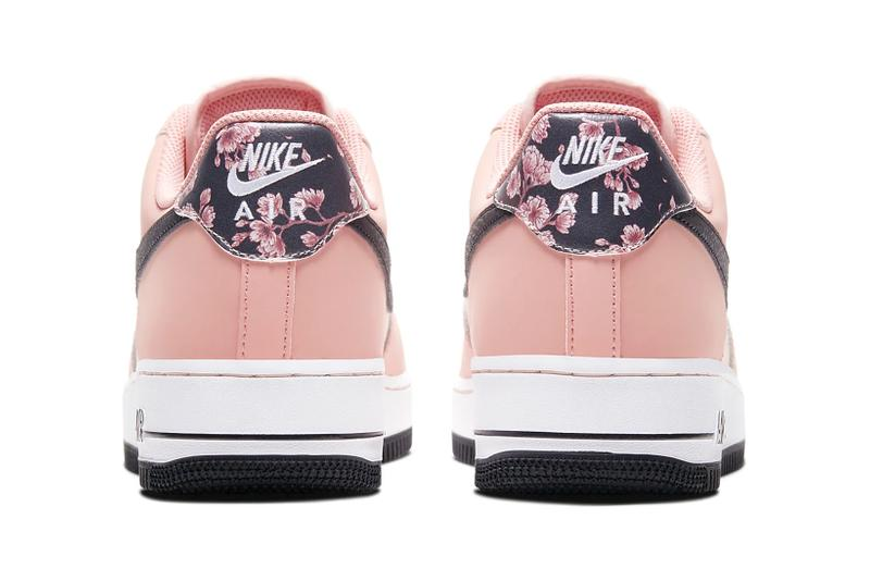 nike air force 1 07 limited edition sneakers japanese cherry blossoms pink white black shoes footwear sneakerhead