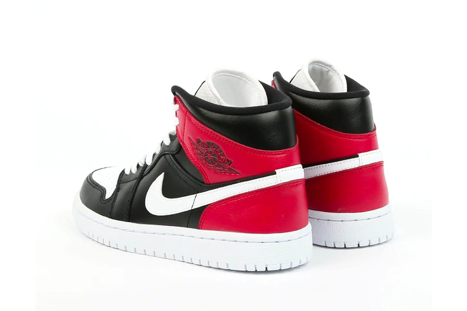 air jordans black white and red