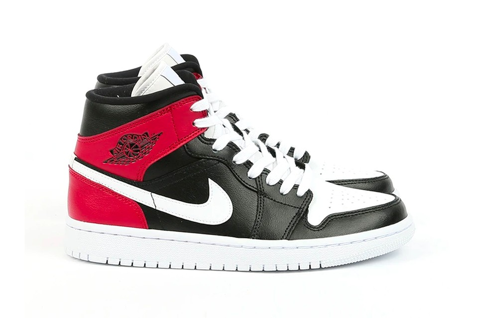 """The Air Jordan 1 Mid Releases in a Deep """"Black/Noble Red/White"""""""