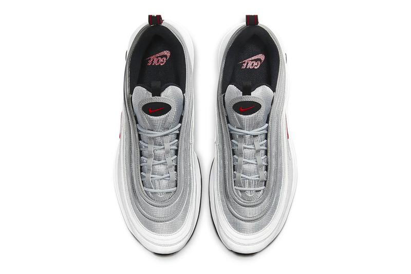 nike air max 97 golf g silver bullet metallic red swoosh sneaker footwear shiny sports