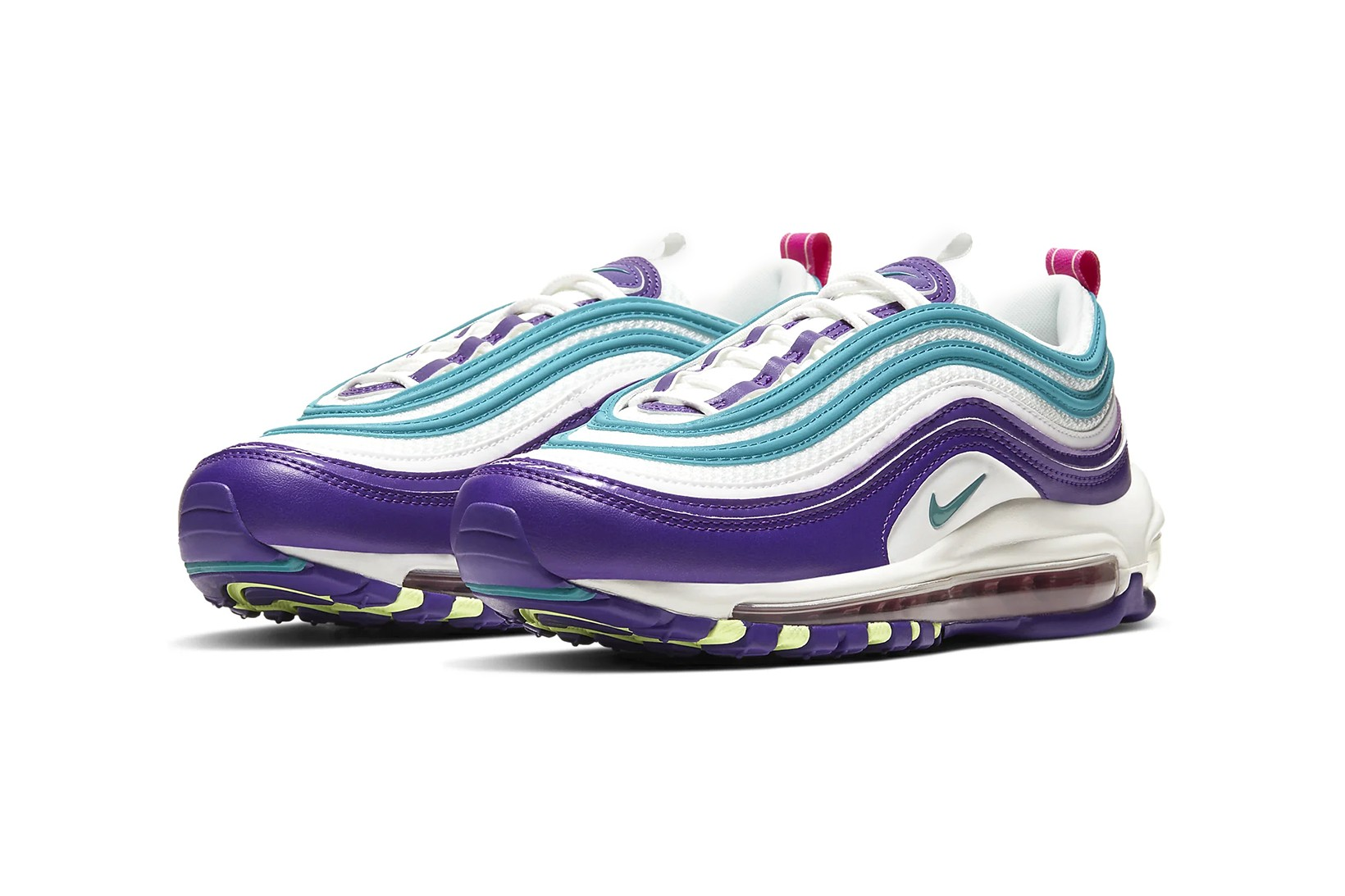 purple and turquoise nike air max