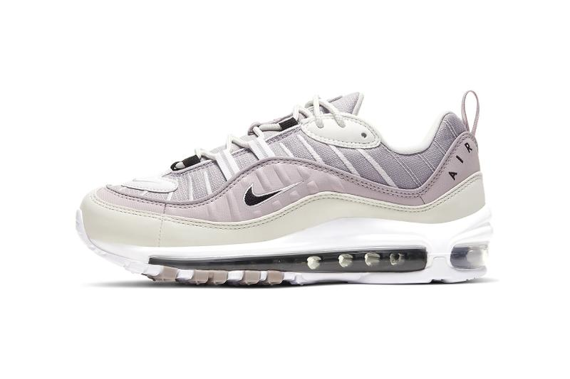 nike air max 98 womens sneakers pastel purple silver lilac white shoes footwear sneakerhead