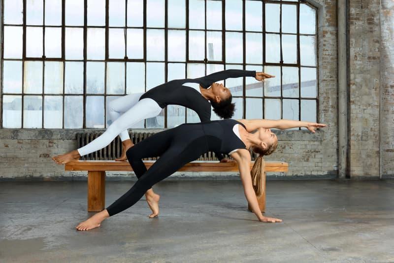 Nike Yoga Collection Infinalon Bodysuit Leggings Black Grey