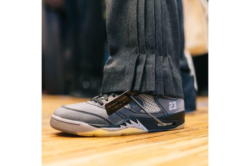 Off-White™ x Nike Air Jordan 5 On-Foot Look
