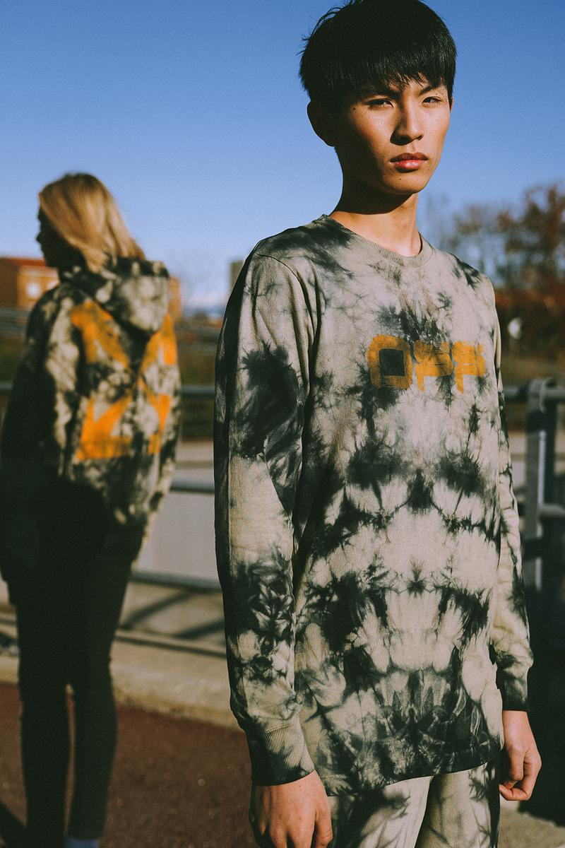 "Off White ""Bangkok"" Capsule Collection Tie Dye Crewneck Hoodie"