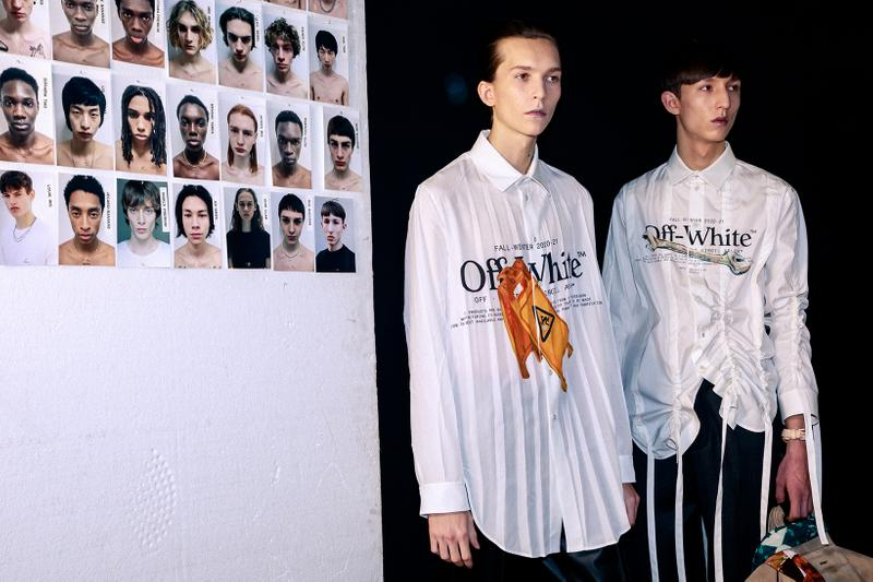 Off-White Virgil Abloh Fall/Winter 2020 Paris Fashion Week Men's Show Collection Backstage
