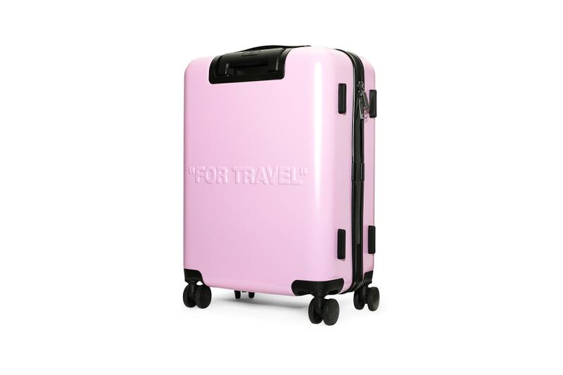 off white for travel arrow trolley luggage suitcase pink designer bags