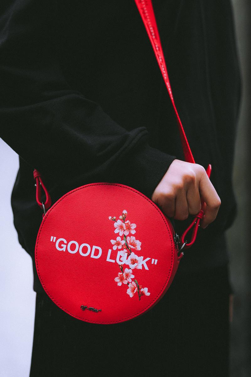 Off-White LUNAR NEW YEAR Collection Circle Bag Red