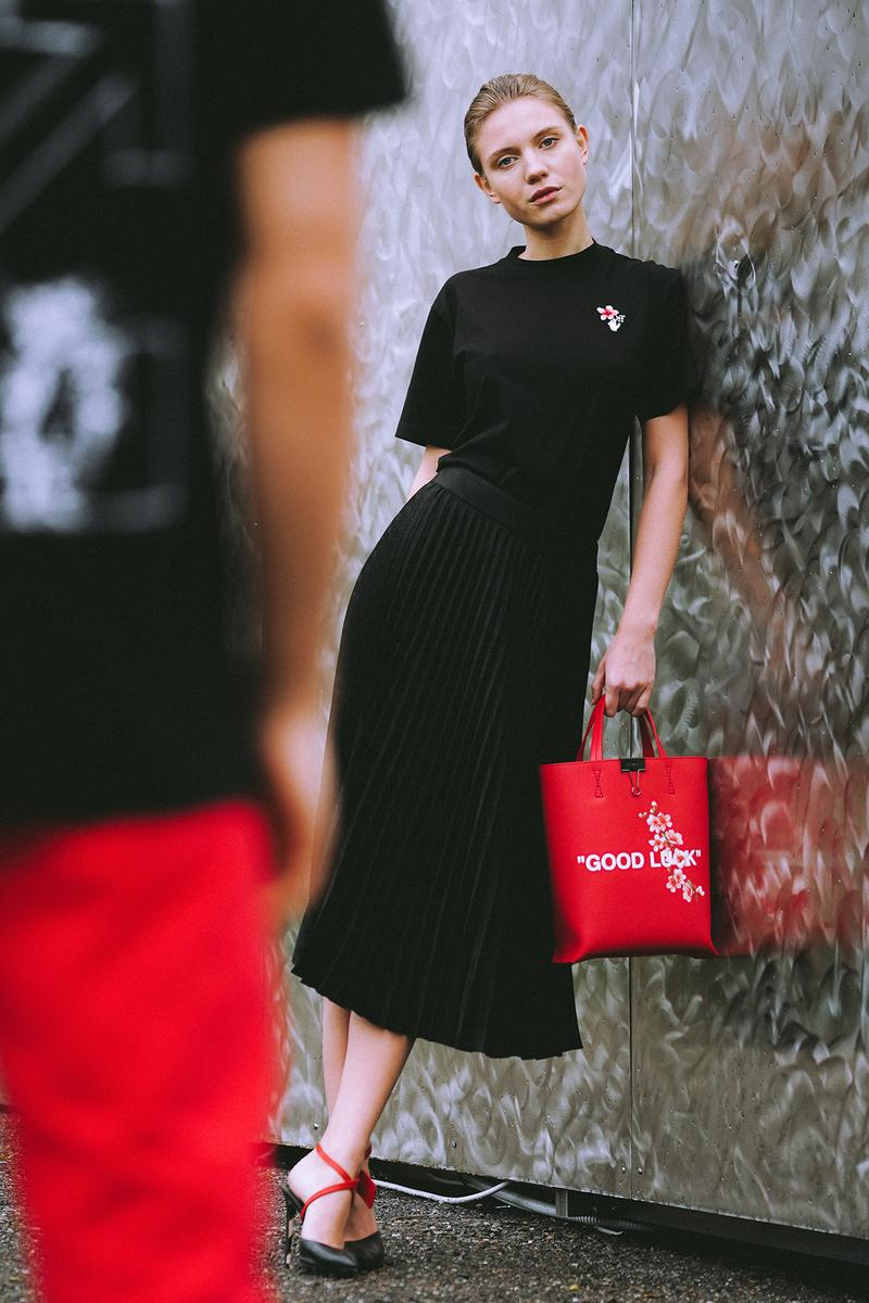 Off-White LUNAR NEW YEAR Collection Tote Bag Red