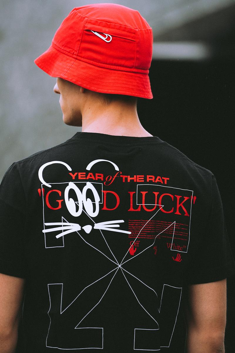Off-White LUNAR NEW YEAR Collection Bucket Hat Red T-Shirt Black