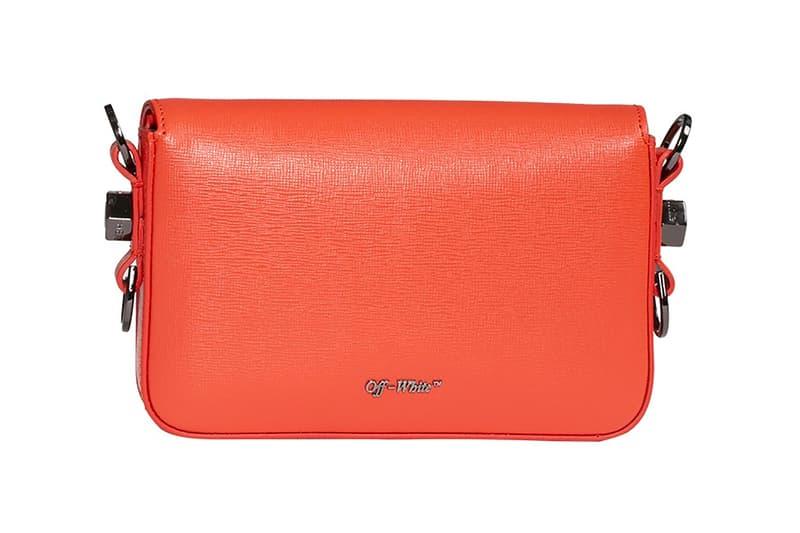 off white virgil abloh mini flap bag coral red orange spring summer fashion