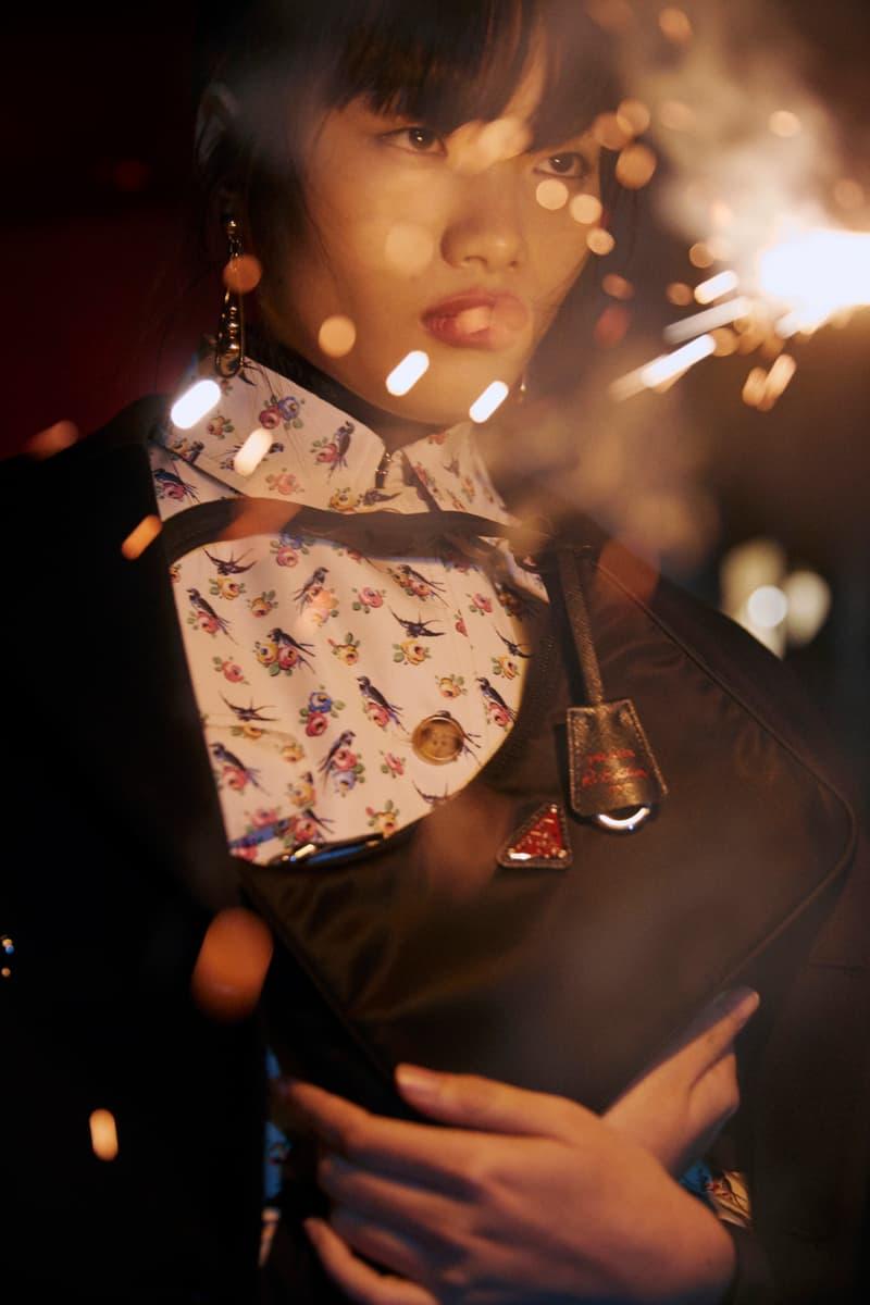 Prada Lunar New Year 2020 Digital Campaign Chinese New Year CNY 20 Chun Jin Family Members Model China Collection Handbags Womenswear Dresses