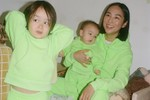 "Picture of Sandy Liang Releases ""Neon Green"" & ""Hot Pink"" Matching Family Sets with Children's Label Two Bridges"