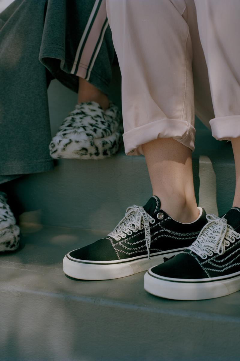 Sandy Liang x Vans Collection Collaboration Campaign Old-Skool Black