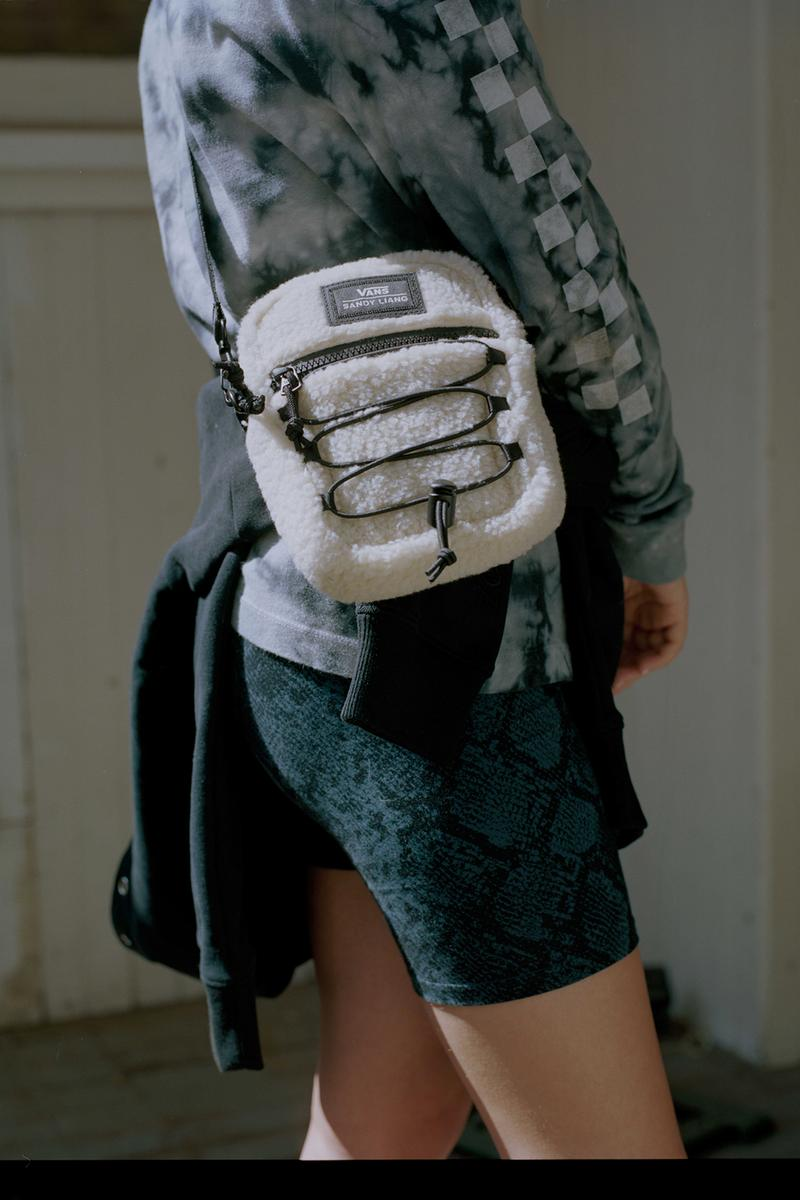 Sandy Liang x Vans Collection Collaboration Campaign Crossbody Sherpa White