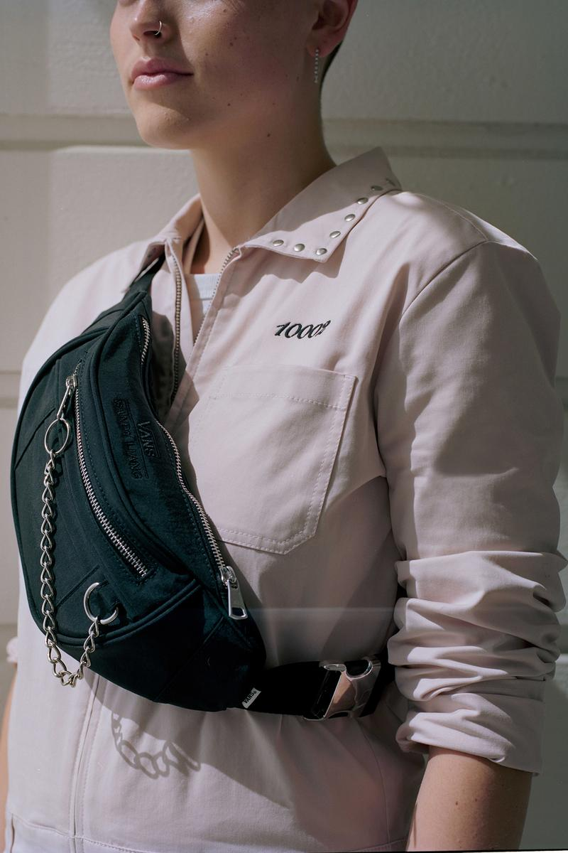 Sandy Liang x Vans Collection Collaboration Campaign Fanny Pack Chain Black