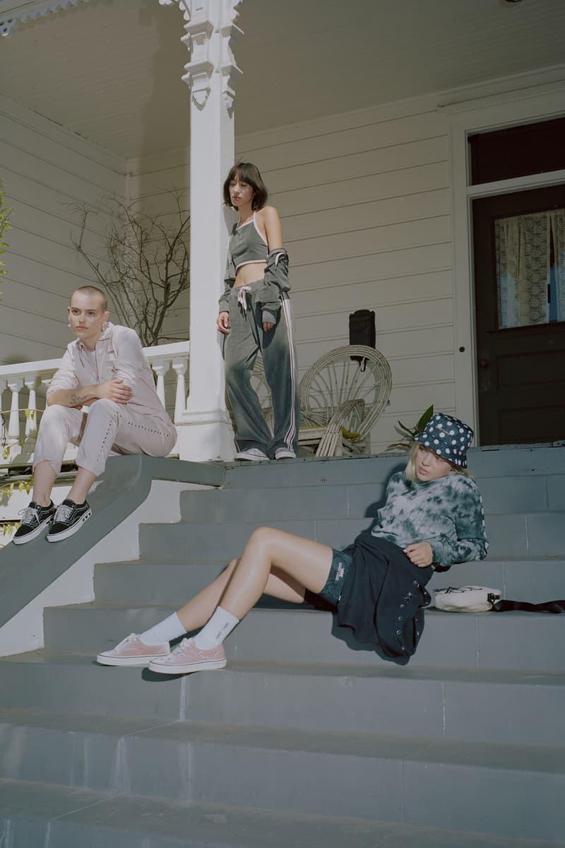 Sandy Liang x Vans Collection Collaboration Campaign Authentic Pink Velvet