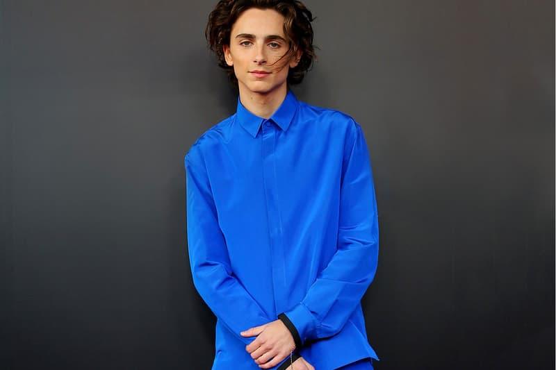 Timothée Chalamet Style Blue Suit Red Carpet