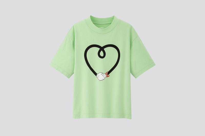 AMBUSH x Disney x Uniqlo UT Minnie Mouse Collection T-Shirt Heart Arms Green