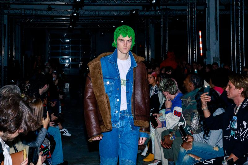 vetements fall winter paris fashion week mens front row michele lamy carine roitfeld guram gvasalia