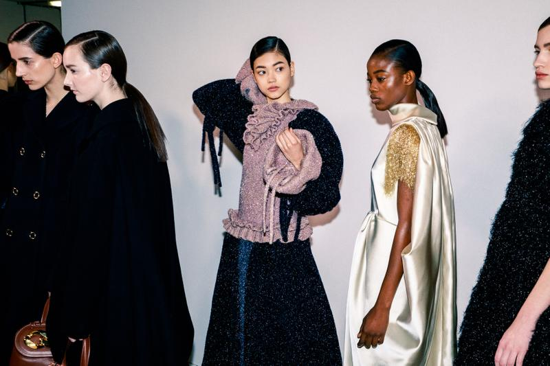 Backstage at JW Anderson Fall/Winter 2020 LFW Jonathan Anderson Collection Show London Fashion Week