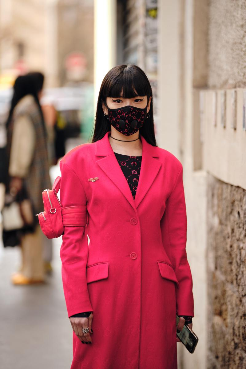 Paris Fashion Week Fall/Winter 2020 Street Style Marine Serre