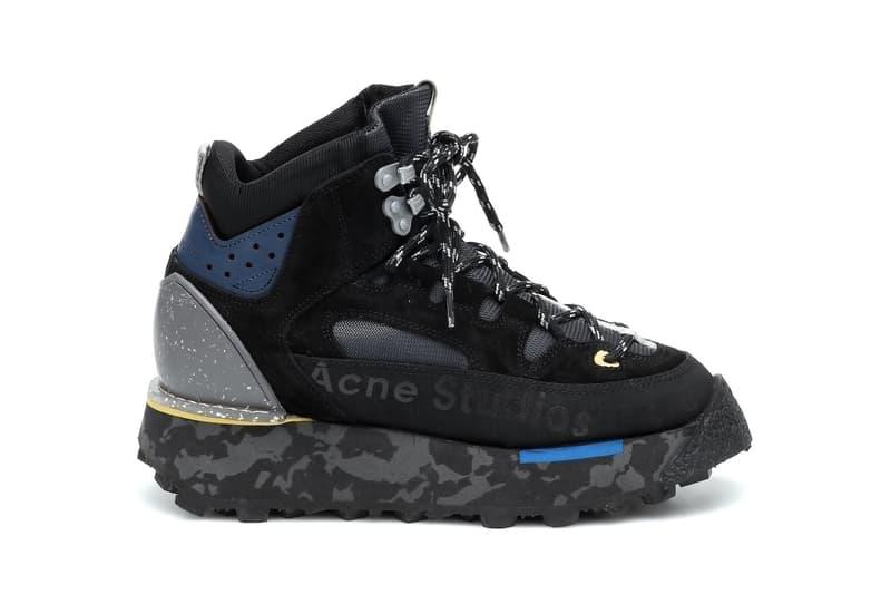 Acne Studios Logo Winter Boots Black/Beige