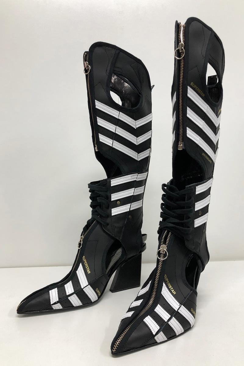 adidas x studio Marko Bakovic for Paolina Russo Fall/Winter 2020 Superstar Boot Black