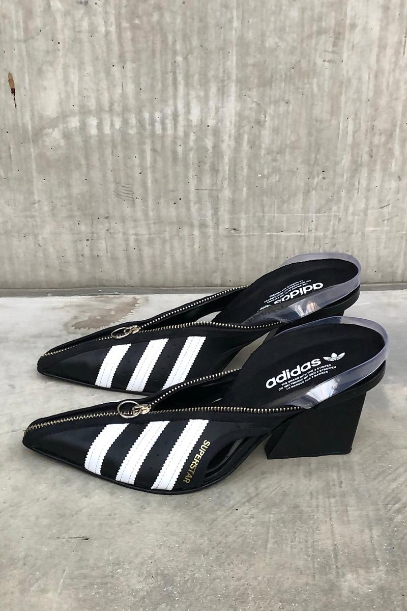 adidas x studio Marko Bakovic for Paolina Russo Fall/Winter 2020 Superstar Mule Black
