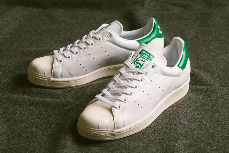 adidas superstan sneakers stan smith superstar white green
