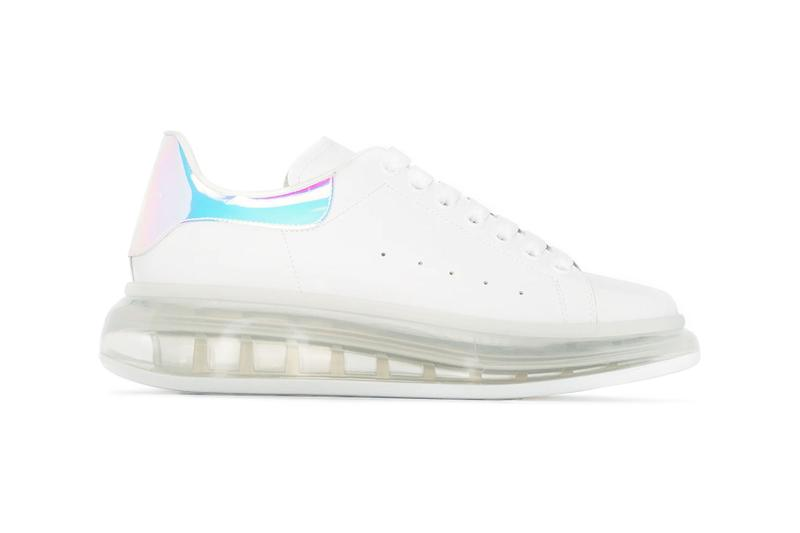 alexander mcqueen oversized womens sneakers shoes white iridescent