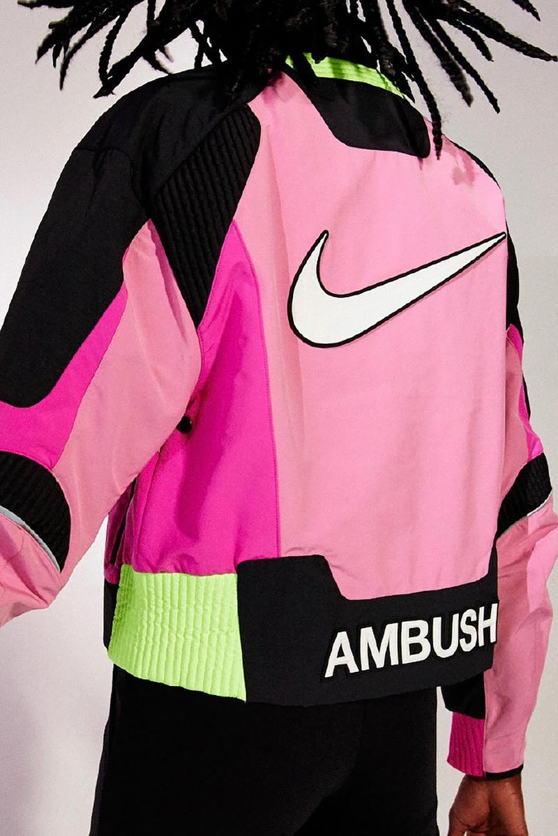 ambush nike tokyo olympics collaboration yoon ahn jacket pink neon green