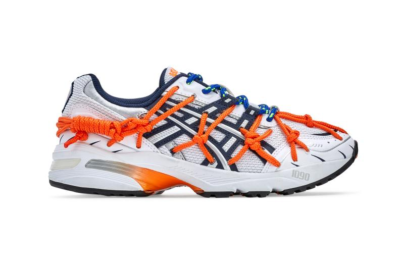 rokh asics collaboration gel 1090 kinsei rope cord silver orange black