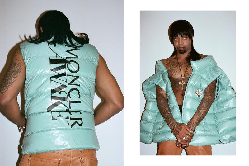 Awake NY x Moncler Collaboration Collection Lookbook Parker Gilet Seafoam Green