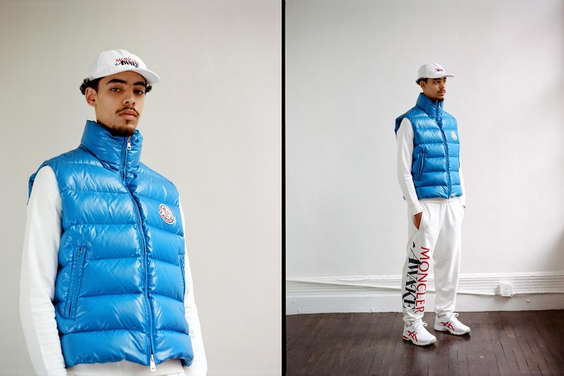 Awake NY x Moncler Collaboration Collection Lookbook Parker Gilet Blue