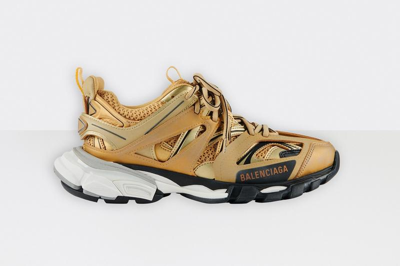balenciaga track 2 gold sneakers price release white black