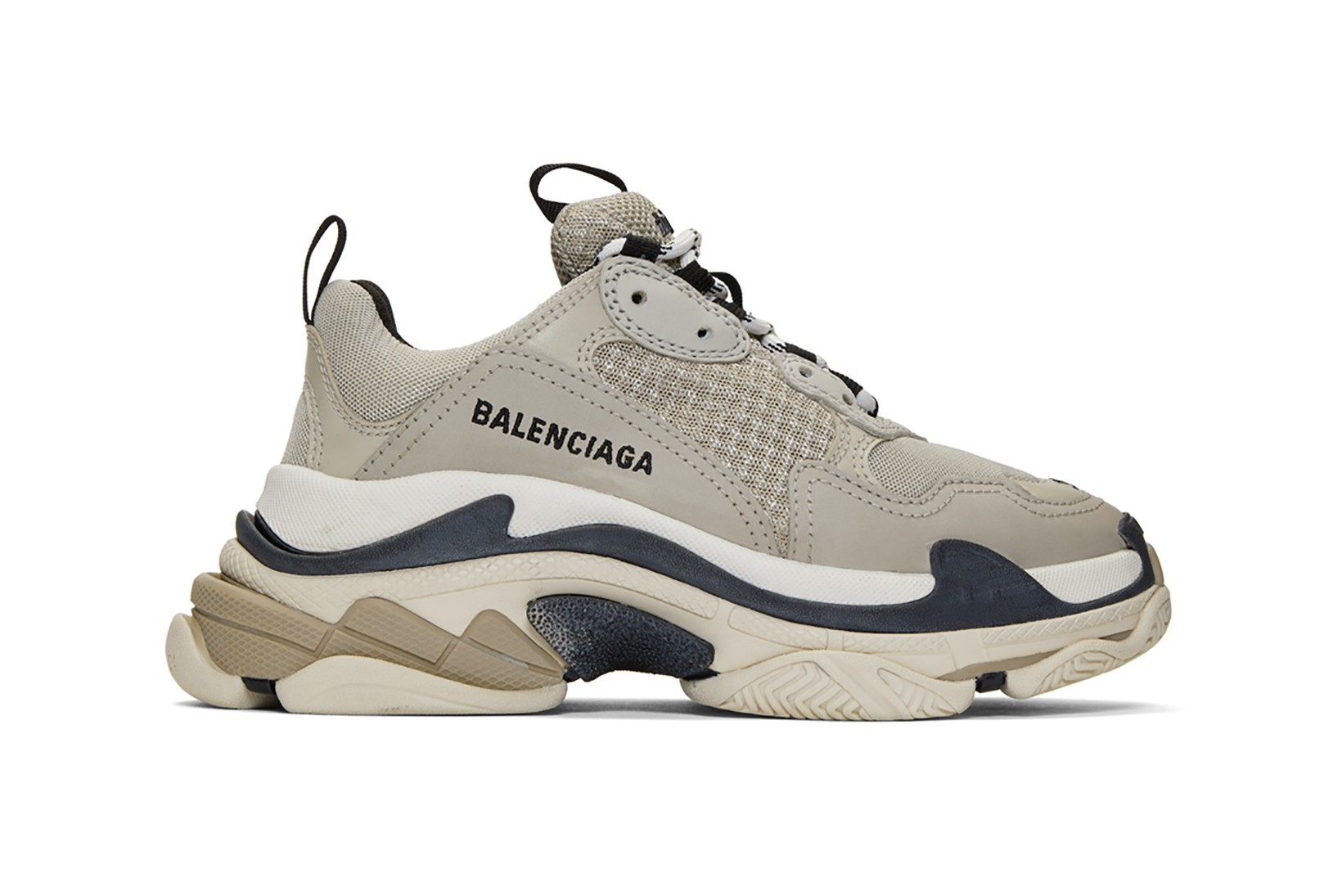 Balenciaga Beige Triple S Sneakers