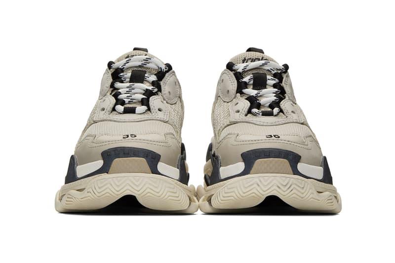 balenciaga triple s chunky sneakers beige brown black shoes footwear sneakerhead