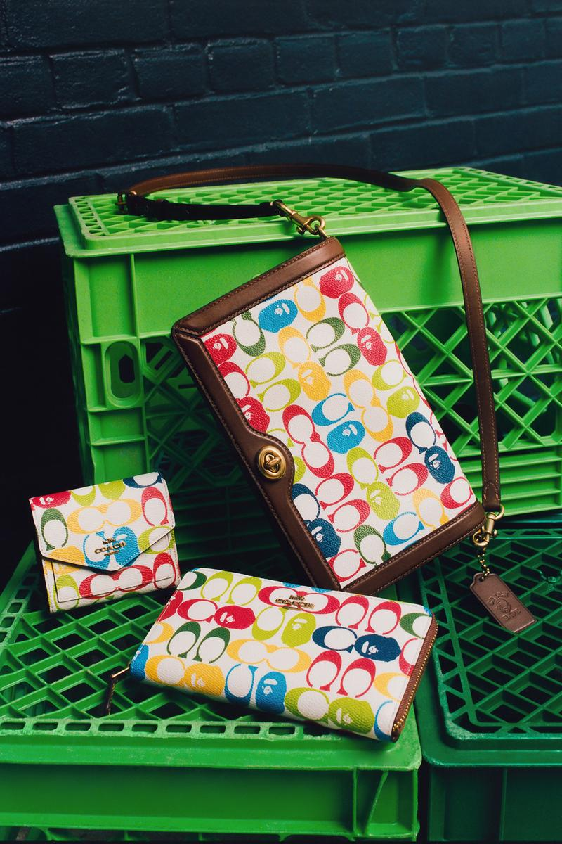 BAPE x Coach Collection Lookbook Wallet Monogram Multicolor