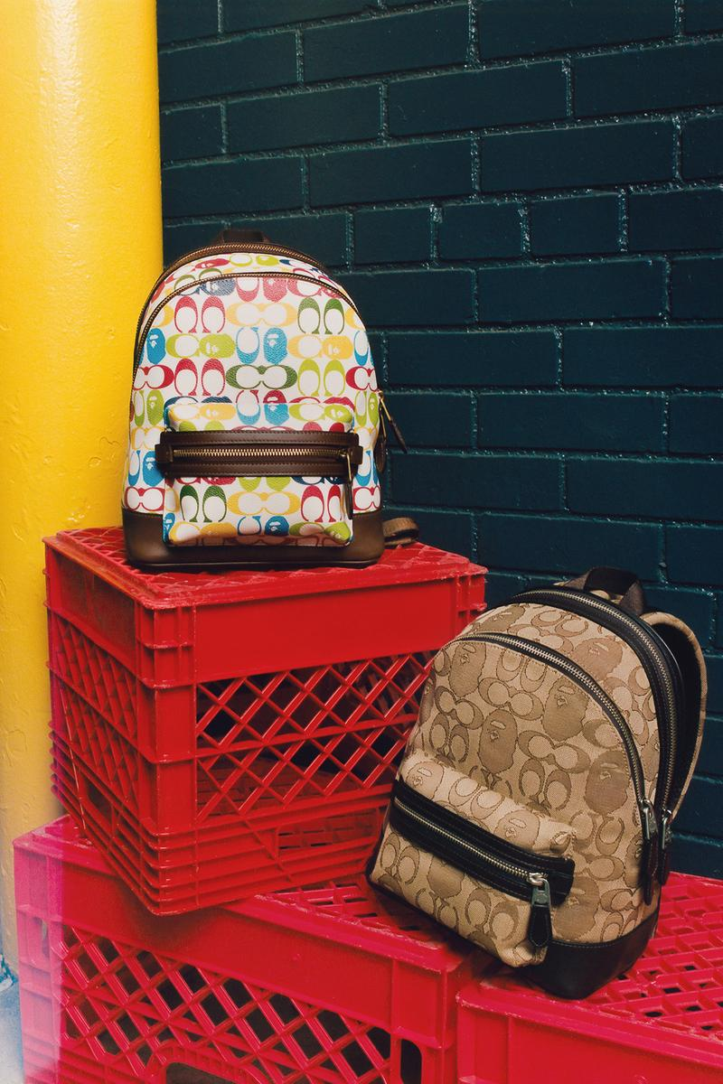 BAPE x Coach Collection Lookbook Backpack Monogram Brown Multicolor