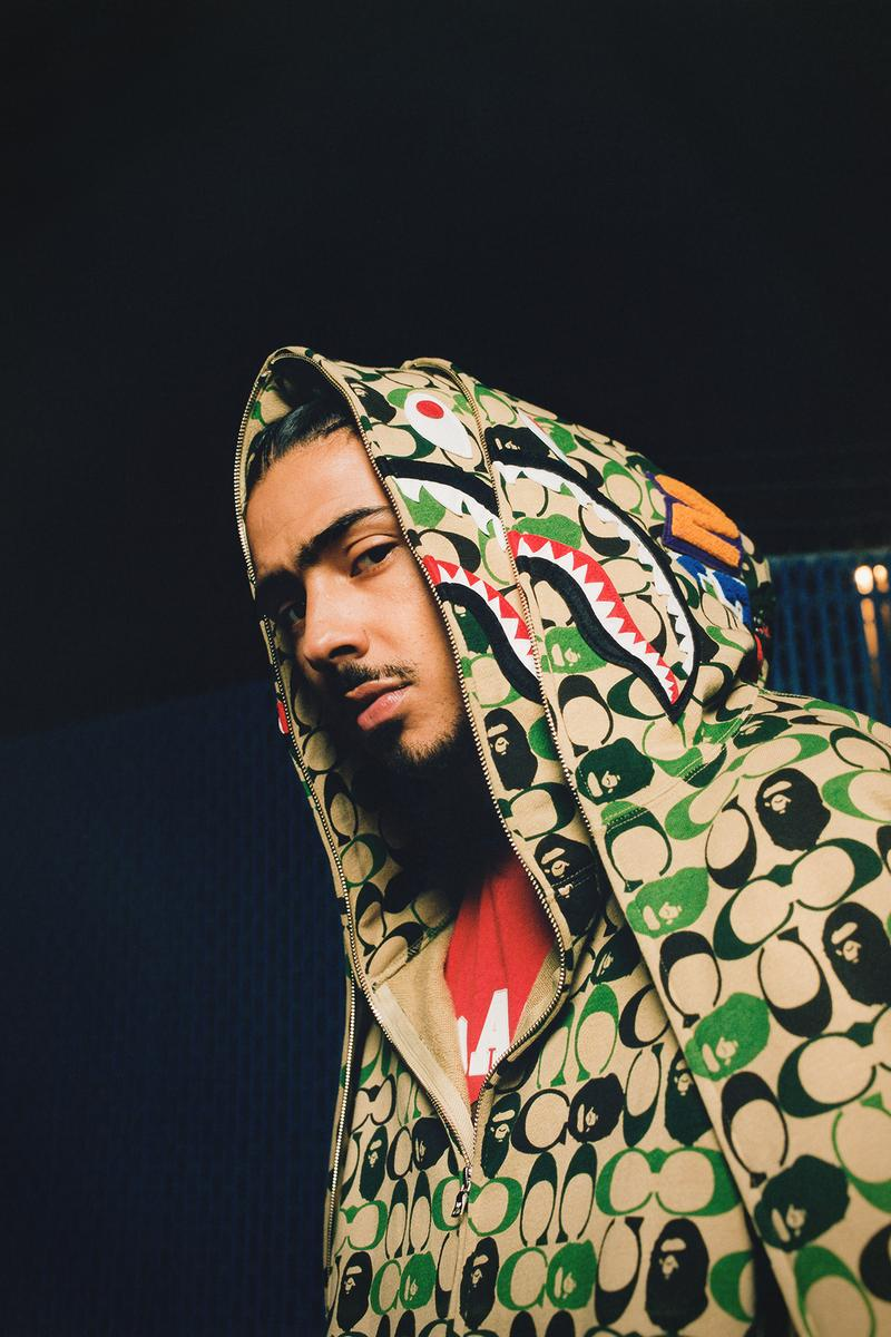 BAPE x Coach Collection Lookbook Hoodie Monogram Green