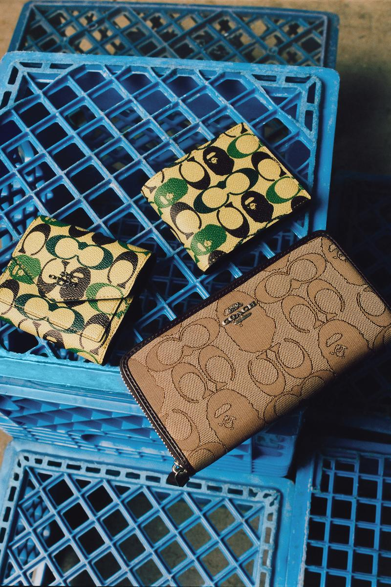 BAPE x Coach Collection Lookbook Wallet Monogram Green Brown