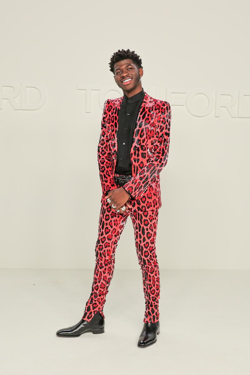 best celebrity style new york fashion week nyfw fall winter lil nas x red suit black boots